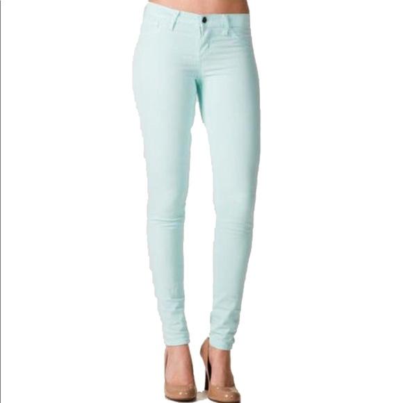 Francesca's Collections Denim - 🔴LAST CALL🔴 Francesca's True Color Mint Jeans